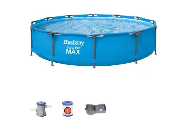 Piscina rotonda Steel Pro MAX 366x76 cm